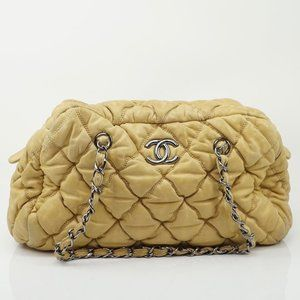 Auth Chanel Beige Leather #1225C44